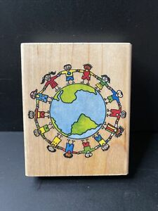 Rubber Stampede Let's Save Our World Rubber Stamp