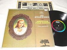 "Jo Stafford ""American Folk Songs"" 1962 LP, VG+, Stereo, Capitol, #ST-1653"