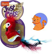 New listing Cat Toy Feather Interactive Funny Kitten Red Chirping Bird Hartz Just For Cats