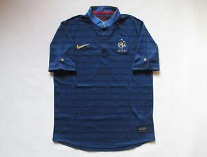 FRANCE EURO 2012/2013 AWAY FOOTBALL SHIRT SOCCER JERSEY MAILLOT FFF NIKE BOYS L