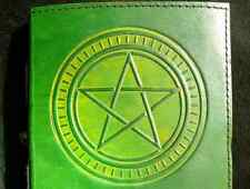 Pagan Wicca PENTACLE Handmade Leather Journal Book of Shadows Grimoire Diary