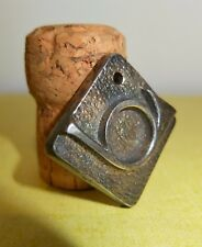 Pendentif en bronze argenté Décor cor de chasse MONIQUE GERBER L'ART DU BRONZE