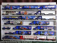 Konvolut 19 Werbetrucks PEPSI, Peschl, Peters / Modellfahrzeuge in Sammlerbox