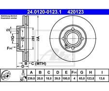 2 St. ATE Bremsscheibe Vorderachse  Audi VW Seat Skoda  24.0120-0123  ATE 24.012