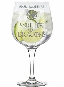 Personalised Mother of Dragons Game of Thrones Inspired Copa Gin Glass