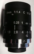 1/1.8 Mega Pixel C Mount HD Lens 8mm For BASLER FLEA WATEC CAMERA XIMEA MQ013CG