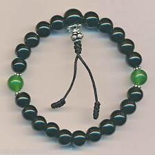 Armband Bracelets schwarzer Glücksband Onyx Armschmuck Pulsera Guru Perle 123b