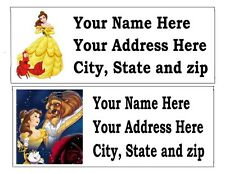 120 Beauty And The Beast Belle Return Address Labels