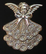 Pin Brooch Silver Plate Mother's & Grandmother's Birthstone Angel