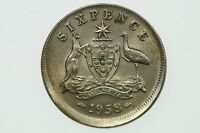 1958 Sixpence Variety Error Mis-Strike Elizabeth II in Extremely Fine Condition