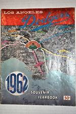 RARE 1962 LOS ANGELES DODGERS YEARBOOK SIGNED 3  ROSEBORO - SHERRY - PERRANOSKI