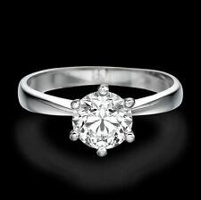 2 CARAT SOLITAIRE ROUND ENHANCED DIAMOND ENGAGEMENT RING D/SI2-I1 14K WHITE GOLD