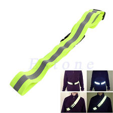 Adjustable Reflective Belt Safety Security Running Jogging Walking Night Riding