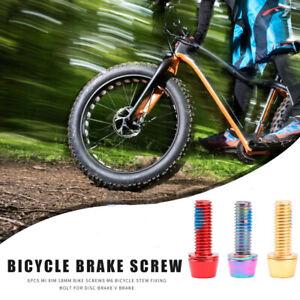 6PCS Bicycle Stem Bolts Mi Xim M6 18mm Stainless Steel Bolt For MTB Ultra Light
