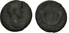 Ancient Rome AD 140-144 Antoninus Pius As Emperor Caduceus crossed cornucopiae
