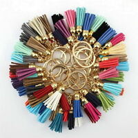 Lots Color Women Velvet Leather Tassel Keychain Bag Pendant Car Key Chain