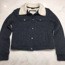 Abercrombie and Fitch Women's cropped knit jacket sherpa lined size Small (Y7)