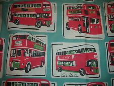 "Blackout Eyelet curtains in Cath Kidston Buses 72"" drop NEW Ready Made"