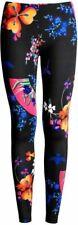 NWT! VERSACE X H&M HM BLACK MULTICOLOR FLORAL STRETCHY LEGGINGS. EUR 40 US 10