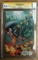 Death of Wolverine #1 1:75 Alex Ross Variant CGC SS 9.6 Signed by Stan Lee