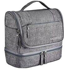 Toiletry Bag, Vagreez Hanging Travel Toiletry Organizer Kit gray