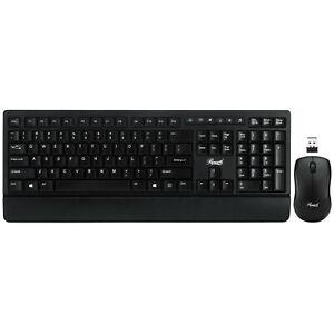 Wireless Office Keyboard Mouse Combo, Long Battery Life, Slim Quiet Ergonomic