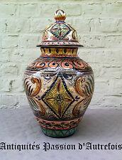 B20150416 - Superbe vase en céramique rouge-fontaine Baudour -signé-Pièce unique