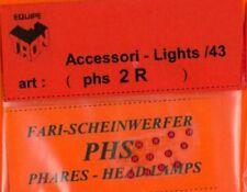 Accessori 1/43 FARI ROSSI 2mm  TRON   PHS2R