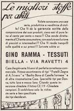 Z3728 Gino Ramma le migliori stoffe per tessuti - Biella - Pubblicità - 1940 ad