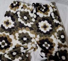 Estes Funky Flower Furry Pajama Bottoms Drawstring Waist Size Med