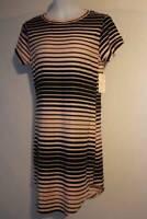 Ellen Pink Ruche Side Asymmetrical Sleeveless Stretch Dress NEW A D1-4