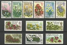 FALKLAND ISLANDS QE11 1972 FLOWERS DECIMAL PART SET USED