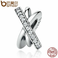 Bamoer Authentic 925 Sterling Silver Charm galaxy with clear cz fit bracelet hot