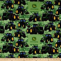 """John Deere Tractor Flip Green premium 100% Cotton Fabric Remnant 27"""""""