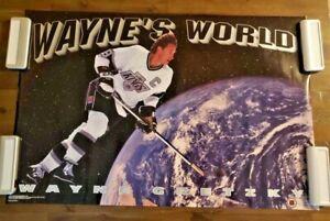 1991 Wayne Gretzky (LA Kings) Wayne's World Vintage Poster.  VG