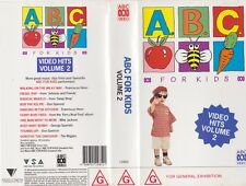 ABC FOR KIDS VIDEO HITS 2~VHS PAL  VIDEO~ A RARE FIND