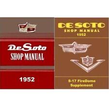 Factory Shop - Service Manual Set for 1952 DeSoto FireDome V8