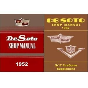 Factory Shop - Service Manual Set for 1952 DeSoto FireDome V8