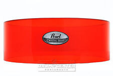 Pearl Crystal Beat Acrylic Free Floating Snare Shell 14x5 Ruby Red - Video Demo