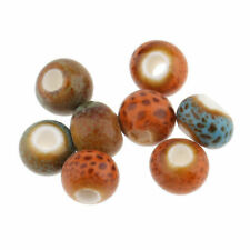 100* Beads Ceramic Porcelain for DIY Jewelry Making Colorful 6mm Vintage Charms