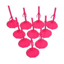 10 X Support Pedestal Display Stand For Barbie Doll -Rose Red BT