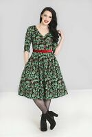 Hell Bunny Holly Berry Retro Black Red Vintage 1950s Summer Womens Party Dress