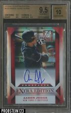 2013 Elite Extra Edition #122 Aaron Judge Yankees RC AUTO /599 BGS 9.5 w/ 10