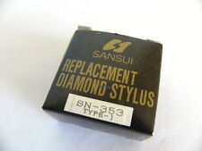Genuine Original SANSUI SN 353 Replacement Stylus OLD NEW STOCK