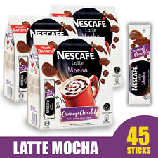 NESCAFE 3 in 1 Latte Mocha Instant Coffee 45 sticks (3-pack) BB 07/31/20