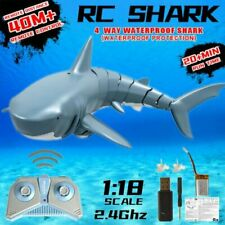 2.4G Mini Remote Control Shark Toy Electric RC Fish Boat Swim in Water Gift