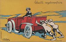 Esposizione Internazionale di Automobili Torino 1904 CARTOLINA ILLUSTR. ATTILIO