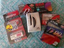Vintage Sony Walkman Wm-Fx195 Mega Bass Am/Fm Cassette Player + 7 Blank Tapes!