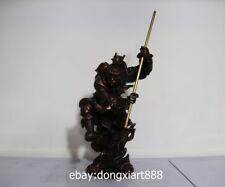 16 China Myth legend Pure bronze Copper Sun Wukong Monkey King Buddha sculpture
