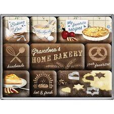 Magnet-Set HOME BAKERY 9-teilig / Magnet, Kühlschrankmagnet